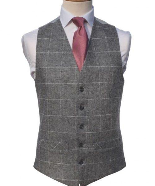 Tweed silver/ivory